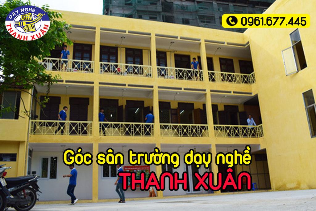 Góc sân trường dạy nghề Thanh Xuân